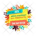 Mega Discount Icon