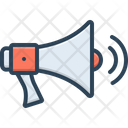 Megaphone With Sound Waves Icon