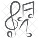 Treble Clefs Melody Music Notes Icon