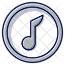 Melody Music Note Button Icon