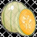 Green Melon Melon Fruit Icon