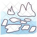 Melting Glacier Icon