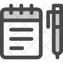 Memo Notebook Notepad Icon