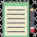Memo Book Notebook Notepad Icon
