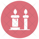Memorial Candle Flame Icon
