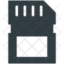Memory Card Microchip Icon
