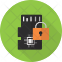 Memory Lock Security Icon