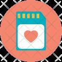 Memory Card Love Icon