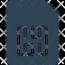 Memory Card Sim Icon