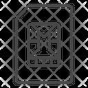Memory Chip Sim Card Chip Icon