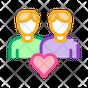 Men Homosexual Love Icon