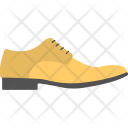 Men Shoe Mustard Icon