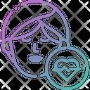 Mental Woman Heart Problem Icon