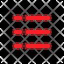 Menu List Interface Icon