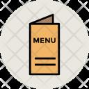 Menu Book Restaurant Icon