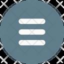 Hamburger Menu Circle Icon