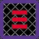 Hamburger Menu Square Icon