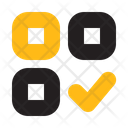 Menu Checklist Grid Icon