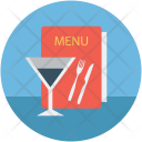 Menu Book Card Icon