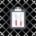 Menu Card Clipboard Icon