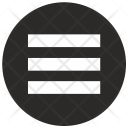 Menu Round Icon