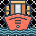 Mercantilism Ship Sea Icon