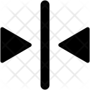 Arrows Direction Collapse Icon