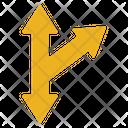 Arrow Cross Sign Icon