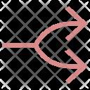 Merge Arrow Point Icon