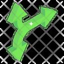Merge Arrows Icon