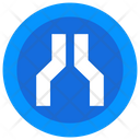 Merge Road Sign Icon