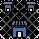 Merger Franchise Branch Icon
