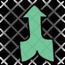 Merging arrow Icon