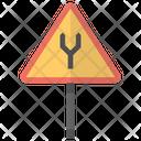 Merging Lanes Icon