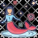 Aquatic Creature Mermaid Fairytale Icon