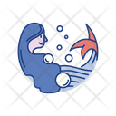 Mermaid Folklore Legend Icon