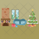 Merry Christmas Background Icon