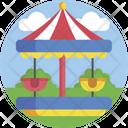 Merry Go Round Fun Children Icon