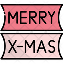 Merry Xmas Banner Poster Icon