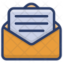 Message Mail Open Letter Icon