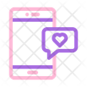 Message Love Chat Icon