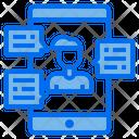 Smartphone Man Video Call Icon
