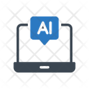 Ai Message Laptop Icon
