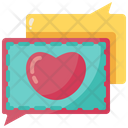 Message Heart Love Icon