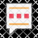 Message Bubble Chat Icon