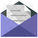 Open Envelope Letter Icon
