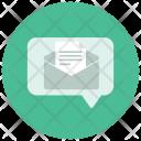 Open Envelope Text Icon