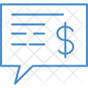 Message Dollar Idea Icon