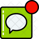 Message Notification Text Icon