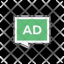 Message Ad Sponsor Icon